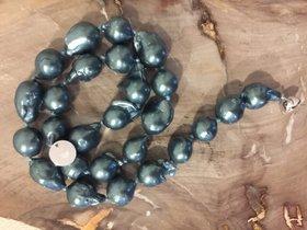 Blau Grüne barocke Perlenkette Muschel Kernperlen