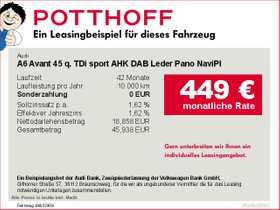 Audi A6 Avant 45 q. TDi sport AHK DAB Leder Pano