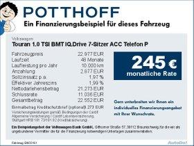 Volkswagen Touran 1,0 TSI BMT IQ.Drive 7-Sitzer ACC Telefon