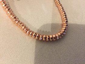 Hämatitperlenkette rose gold mit Silberverschluss