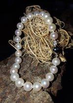 Perlenarmband mit 585 Weißgoldverschluss