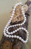 Traum Perlenkette mit Goldverschluß