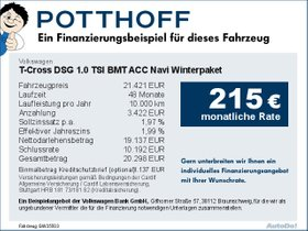 Volkswagen T-Cross DSG 1,0 TSI BMT ACC Navi Winterpaket