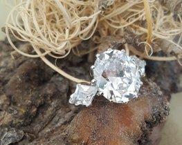 Damenring 925 Silber mit echten Zirkonen - ACHTUNG kein künstlich hergestellter Zirkonia!!!