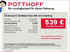 Audi A4 Allroad 45 TDi Matrix Pano AHK ACC Standhzg