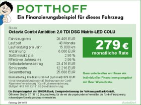 Skoda Octavia Combi Ambition 2,0 TDI DSG Matrix-LED
