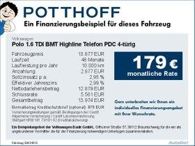 Volkswagen Polo 1,6 TDI BMT Highline Telefon PDC 4-türig