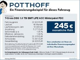 Volkswagen T-Cross DSG 1,0 TSI BMT LIFE ACC Winterpaket PDC