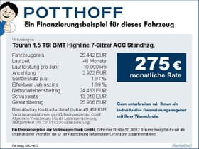 Volkswagen Touran 1,5 TSI BMT Highline 7-Sitzer ACC