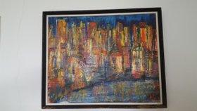City at Night von Loretta Starr