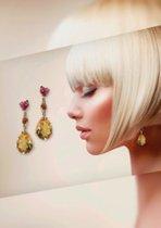 Außergewöhnliche Ohrgehänge brauchen außergewöhnliche Frauen - Citrin und Turmalinogehänge