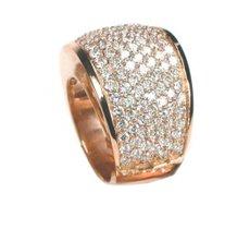 Feinste Brillanten in edlem Rosegold - außergewöhnlich schöner Damenring