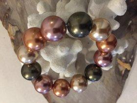 Muschel Kern Perlenarmband Multicolor 16 mm Durchmesser