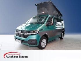 VW NFZ T6 California .1 Coast Aufstelldach Motor: 2,0 l TDI EU6 SCR BlueMotion Technology 110 kW Getriebe: 7-Gang-Doppelkupplung  Navi