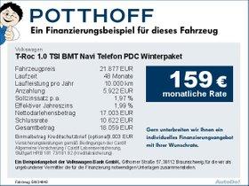 Volkswagen T-Roc 1,0 TSI BMT Navi Telefon PDC Winterpaket