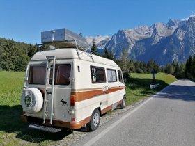 Mercedes Benz 308 Wohnmobil, Topcase, Dusche, WC, 4 Betten