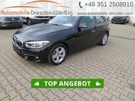 BMW 118 d Sport Line-Leder-Glasdach-Navi-LED-