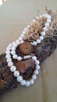Exquisite allerfeinste echte Perlenkette 45 cm Lang