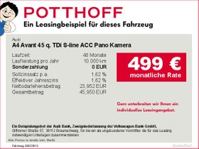 Audi A4 Avant 45 q. TDi S-line ACC Pano Kamera