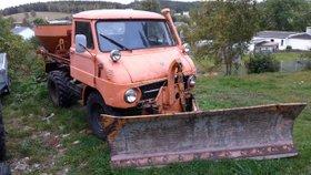 UNIMOG 30 mit Salzstreuer Winterdienstfahrzeug