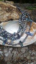 5 reihige Designer Perlenkette 45 cm