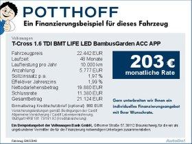 Volkswagen T-Cross 1,6 TDI BMT LIFE LED BambusGarden ACC APP