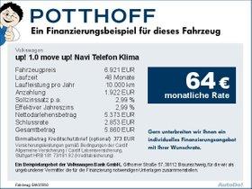 Volkswagen up! 1,0 move up! Navi Telefon Klima