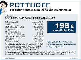 Volkswagen Polo 1,0 TSI BMT Connect Telefon Klima APP